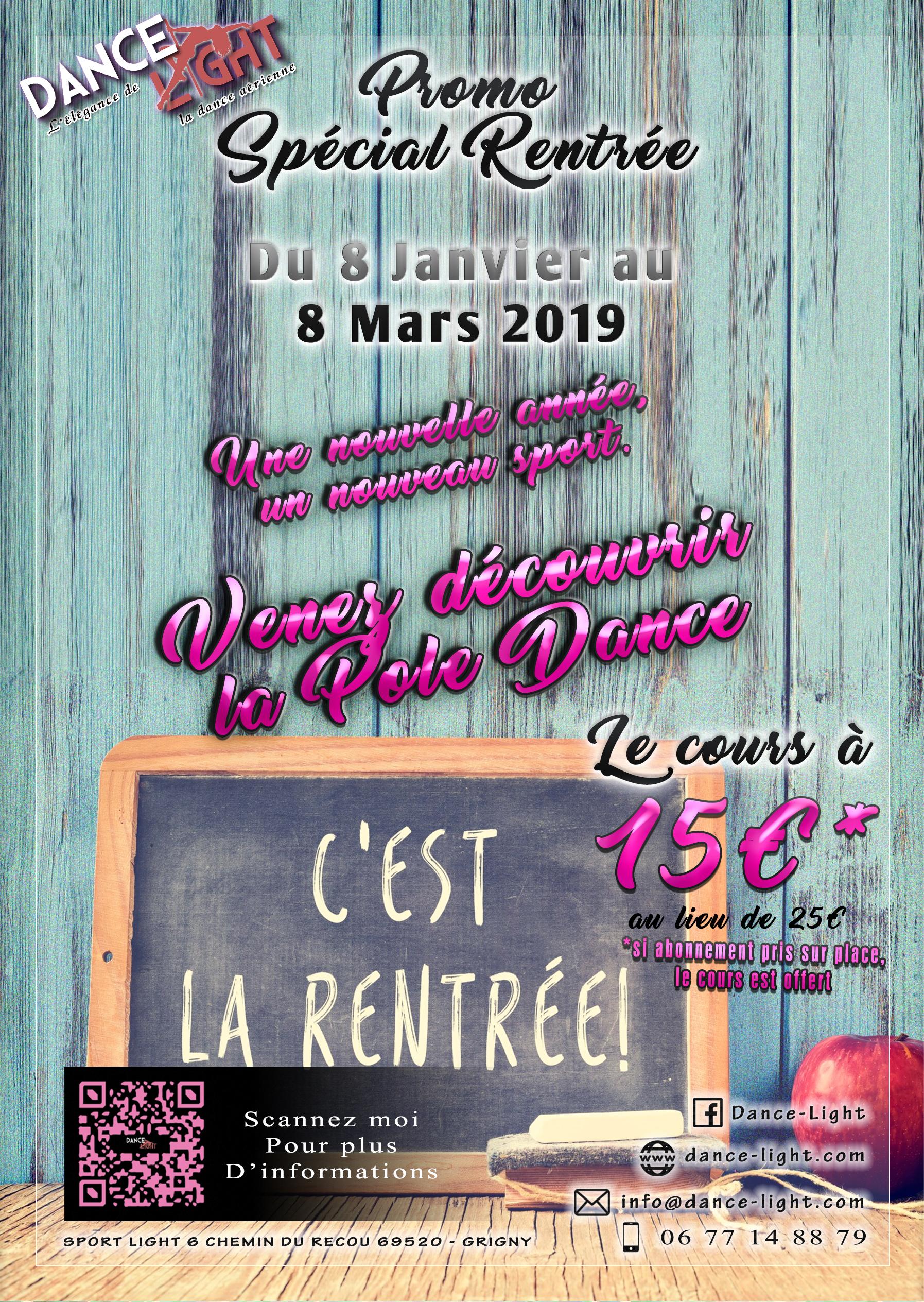 Promo Rentrée janvier 2019-2